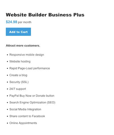 Website Builder - Business Plus