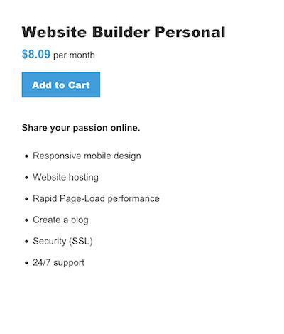 Website Builder - Personal