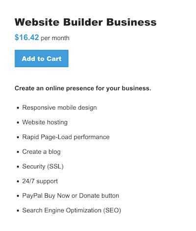 Website Builder - Business