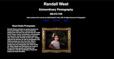 Expressions Photography Studio website,   Santa Fe, NM, USA, circa June 2002.